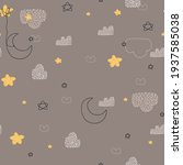 seamless childish pattern with... | Shutterstock .eps vector #1937585038