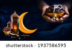 2021 ramadan and eid concept... | Shutterstock . vector #1937586595