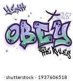 urban street style obey the... | Shutterstock .eps vector #1937606518