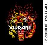 burning tiger head illustration ...   Shutterstock .eps vector #1937616265