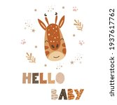 hello  baby   cute nursery... | Shutterstock .eps vector #1937617762