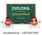 school kids diploma certificate ... | Shutterstock .eps vector #1937647345