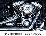 Shiny Chrome Motorcycle Engine...