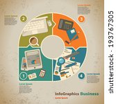 template for infographic with...