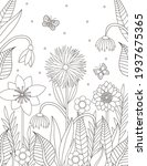flowers coloring page. floral... | Shutterstock .eps vector #1937675365