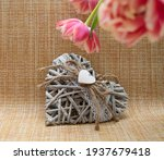 Heart Made Of Wooden Sticks Of...