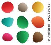 pebble  stone or ink blot  blob....   Shutterstock .eps vector #1937684758