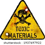 toxic materials warning sign ... | Shutterstock .eps vector #1937697922