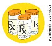 prescription drugs   pill bottle | Shutterstock .eps vector #193770935
