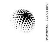 halftone sphere dotted vector... | Shutterstock .eps vector #1937711098