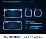 futuristic technology frames...