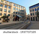 Small photo of Alcoy, Spain - September 23, 2017: Corner without people or traffic in the city of Alcoy, in the province of Alicante, where several institutional and important buildings of the city converge.
