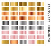 set of metallic gold silver... | Shutterstock .eps vector #1937737915