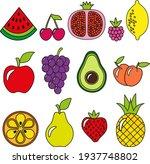 watermelon raspberry grape... | Shutterstock .eps vector #1937748802