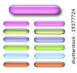 a lot of glossy pastel buttons... | Shutterstock . vector #19377724