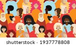 seamless pattern with female... | Shutterstock .eps vector #1937778808