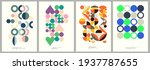 vector geometric abstract... | Shutterstock .eps vector #1937787655