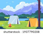 amping landscape. countryside... | Shutterstock .eps vector #1937790208