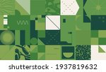 geometric distress aesthetics... | Shutterstock .eps vector #1937819632