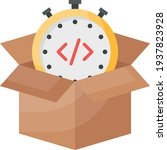 product delivery time concept ...   Shutterstock .eps vector #1937823928