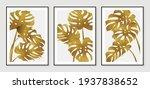 botanical wall art vector set.... | Shutterstock .eps vector #1937838652