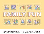 family fun word concepts banner....