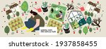 garden  farm and agriculture.... | Shutterstock .eps vector #1937858455