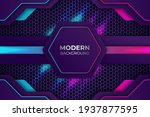modern premium pink and blue...   Shutterstock .eps vector #1937877595