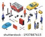 isometric auto service. car...   Shutterstock .eps vector #1937887615