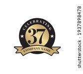 37th year anniversary emblem... | Shutterstock .eps vector #1937898478