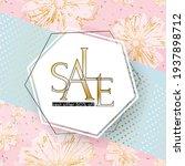 beauty sale banner elegant... | Shutterstock .eps vector #1937898712