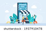 concept of online shopping on... | Shutterstock . vector #1937910478