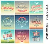 travel set   labels and emblems. | Shutterstock .eps vector #193792316