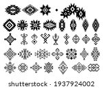 set of ethnic motif. collection ... | Shutterstock .eps vector #1937924002