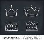 hand drawn doodle crowns  four... | Shutterstock .eps vector #1937924578