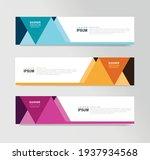 vector abstract banner design... | Shutterstock .eps vector #1937934568