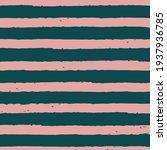 vector drawn green pink stripes ... | Shutterstock .eps vector #1937936785