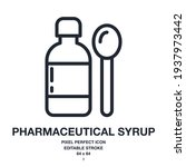 pharmaceutical syrup with... | Shutterstock .eps vector #1937973442