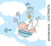 vector illustration of newborn... | Shutterstock .eps vector #193799876