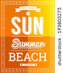 sun summer beach poster template | Shutterstock .eps vector #193803275