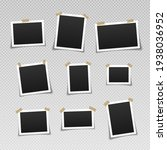 photo frames with adhesive tape.... | Shutterstock .eps vector #1938036952