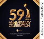 59 years anniversary... | Shutterstock .eps vector #1938061585