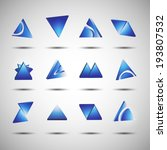 triangle set  web icons design  ... | Shutterstock .eps vector #193807532