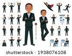 businessman character set 5 in... | Shutterstock .eps vector #1938076108