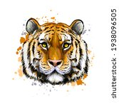 tiger head portrait from a... | Shutterstock .eps vector #1938096505