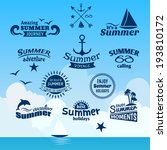 vintage summer voyage label set ... | Shutterstock .eps vector #193810172