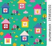 baby animals in houses kids... | Shutterstock .eps vector #193810232