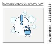 conscious consumption line icon.... | Shutterstock .eps vector #1938108838