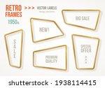 set of retro 3d golden frames... | Shutterstock .eps vector #1938114415