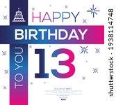 creative happy birthday to you... | Shutterstock .eps vector #1938114748